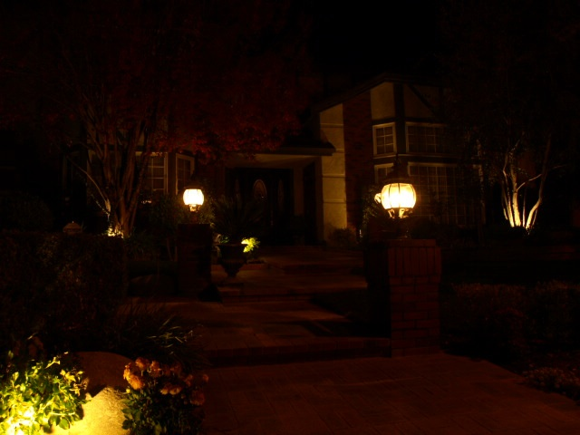 Westlake Village Landscape Lighting Entrance